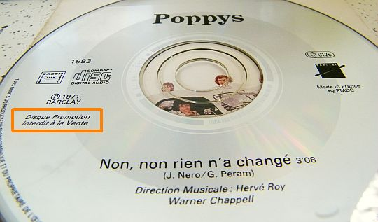 CD collector Poppys inchangé