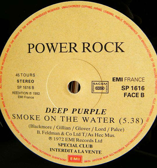POWER ROCK présente Deep Purple - Smoke on the water