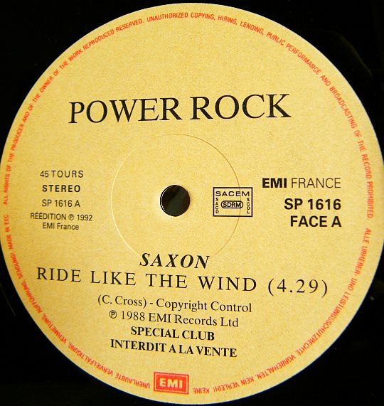 Saxon - Ride like the wind dans Poesie-Sonore.com