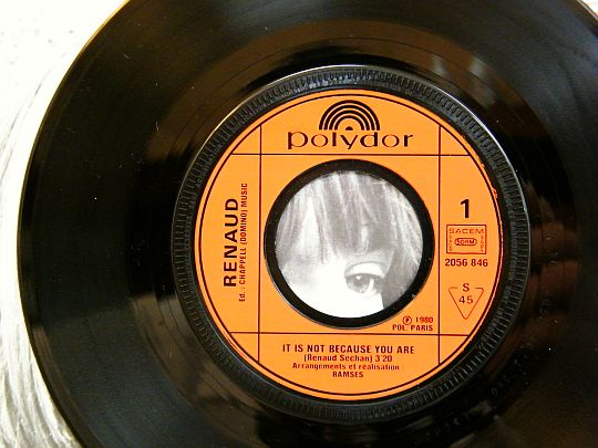 45 tours promo Collector de Renaud - It is not because you are, face 1