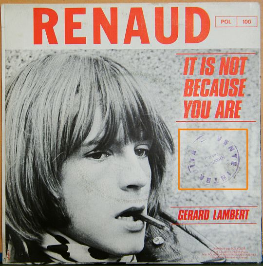 verso pochette Renaud - It is not because you are
