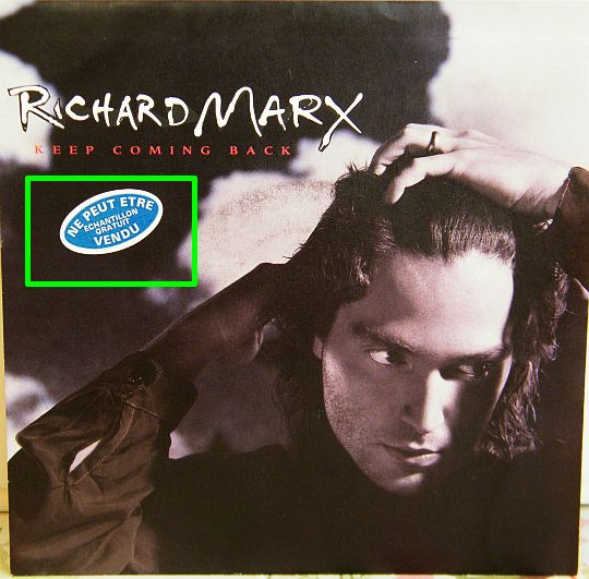 pochette du 45 tours promo Collector de Richard Marx - Keep coming back