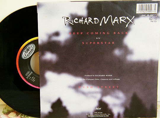 verso du 45 tours promo Collector de Richard Marx - Superstar