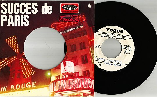 45 tours White Label et pochette Succès de Paris de Richard Sanderson - Check on the list