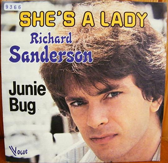 recto du 45 tours promotionnel de Richard Sanderson - She's a lady