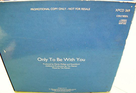 verso du CD single monotitre promo de Roachford - Only to be with you