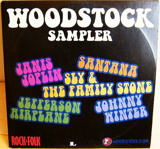 recto du CD sampler collector Woodstock par Rock and Folk