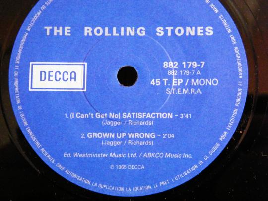 face A du 45 t Collector des Rolling Stones - Everybody needs somebody to love version courte