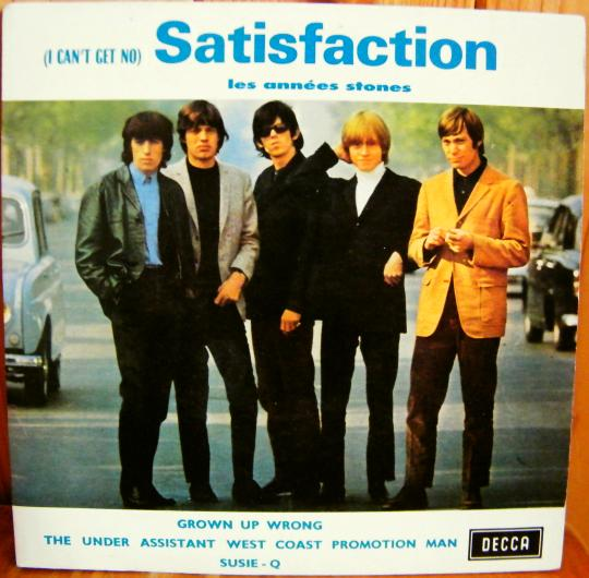recto du super 45 tours Collector des Rolling Stones - I can't get no satisfaction