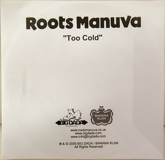pochette du DVD Collector promo de Roots Manuva - Too cold
