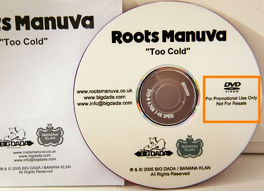 DVD promotionnel Too Cold de Roots Manuva