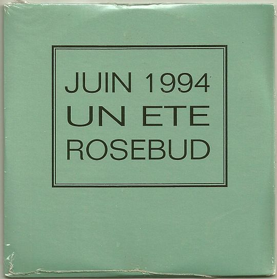 recto du CD sampler Collector promo un été Rosebud - juin 1994