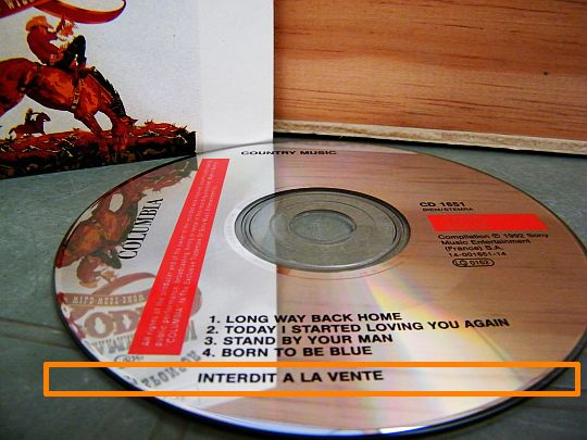 CD collector interdit à la vente de la Samaritaine - All American Rodeo