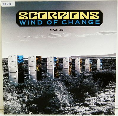 recto du maxi promo de Scorpions - Wind of change