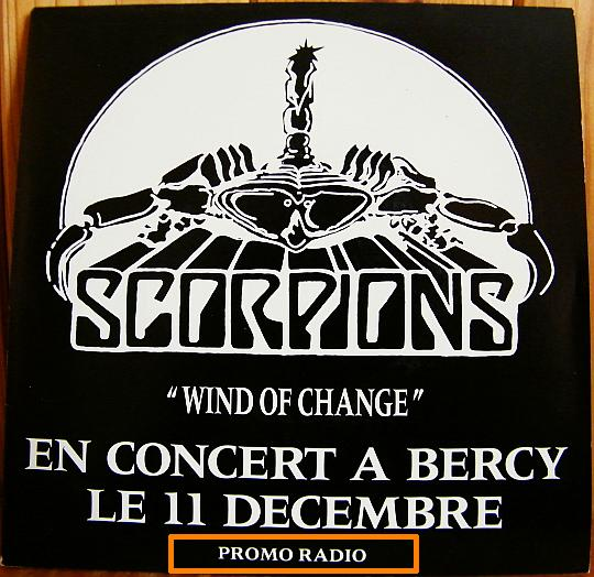 recto du single de Scorpions - Wind of change