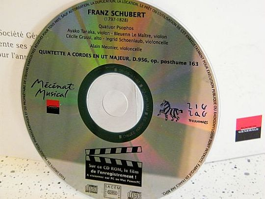 CD sampler collector Franz Schubert - Quintette à cordes
