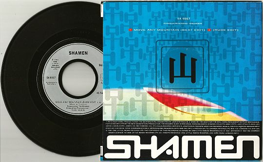 face B et 45t promo des Shamen - Move any mountain Progen 91 Rude edit