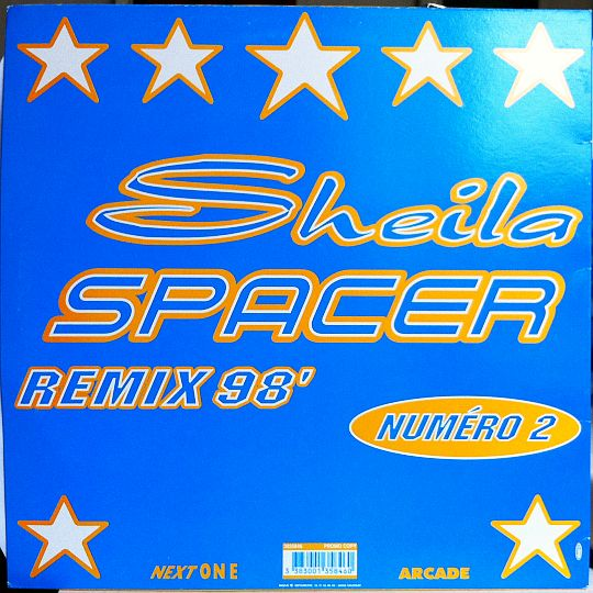 verso du maxi 45 tours promo Collector de Sheila - Spacer remix 98 numéro 2