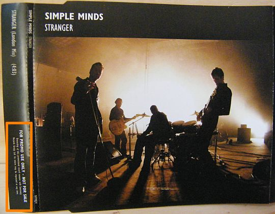 pochette recto du cd monotitre promo des Simple Minds - Stranger