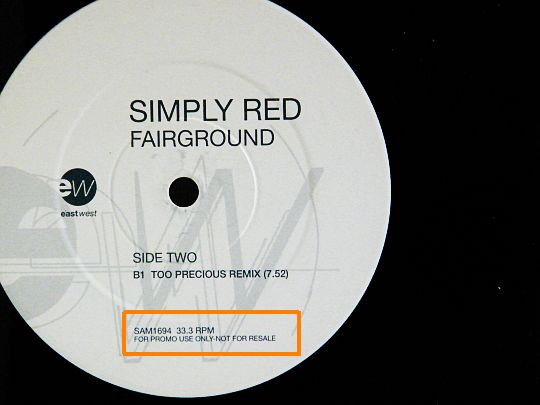 maxi promo Simply Red - Fairground face B
