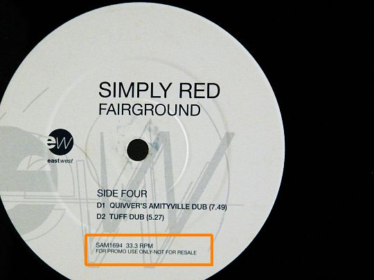 maxi promo Simply Red - Fairground face D