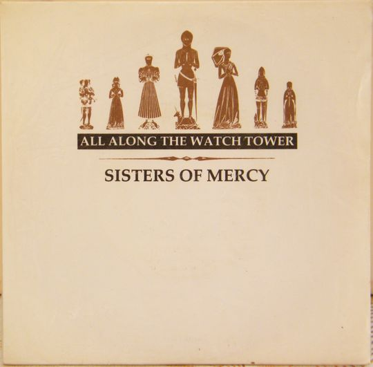 recto du 45 tours bootleg 4 titres des SISTERS OF MERCY - All along the watch tower