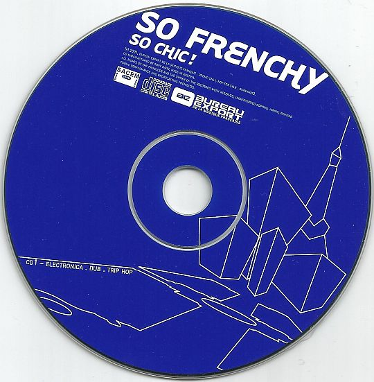 disque compact promotionnel So Frenchy So Chic volume 1 BLEU