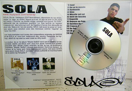 CD Collector promo du sampler advance Missile sol-sol par SOLA