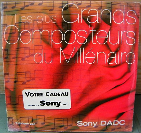 recto du CD sampler Collector promo neuf scellé Sony DADC - Grands compositeurs du millénaire