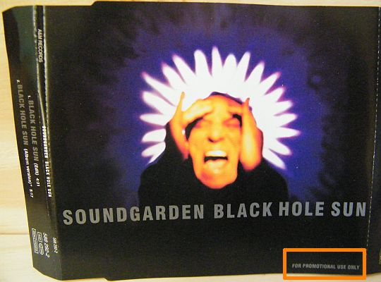 recto du CD single collector promo de Soundgarden - Black hole sun