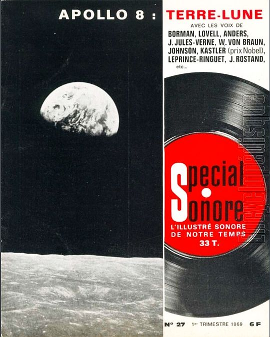 recto du mini 33T collector souple Apollo 8 terre-lune