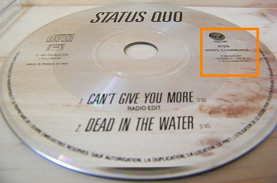 CD promo hors commerce de STATUS QUO - Can't give you more