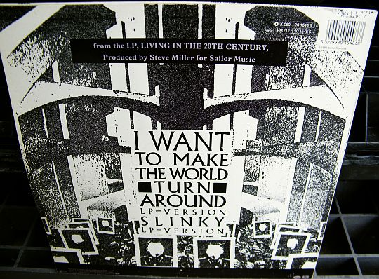 verso du maxi promo de Steve Miller Band - I want to make the world turn around