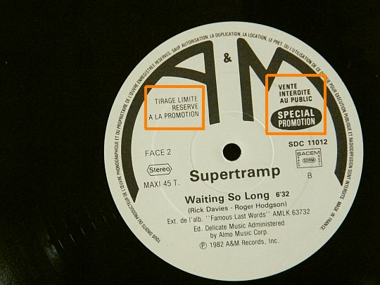 face B Supertramp Collector