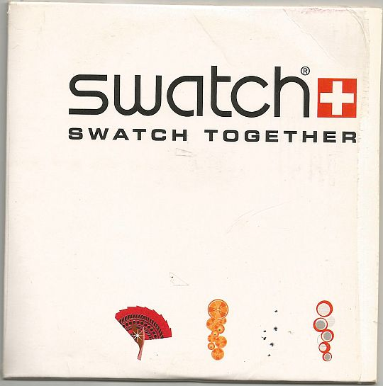 recto de la compilation promo Suisse Swatch together par Eva Gardner