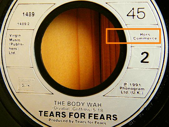 face 2 Collector du 45 tours hors commerce de Tears For Fears - The body wah