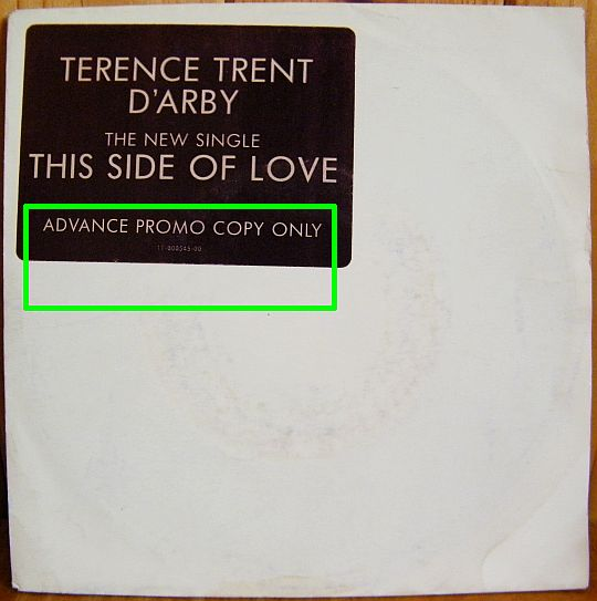 recto du 45t collector promo de TTD'A - This side of love