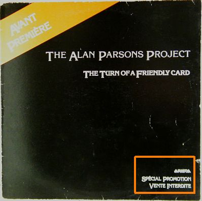 recto du Collector promo d'Alan Parsons Project - The turn of a friendly card