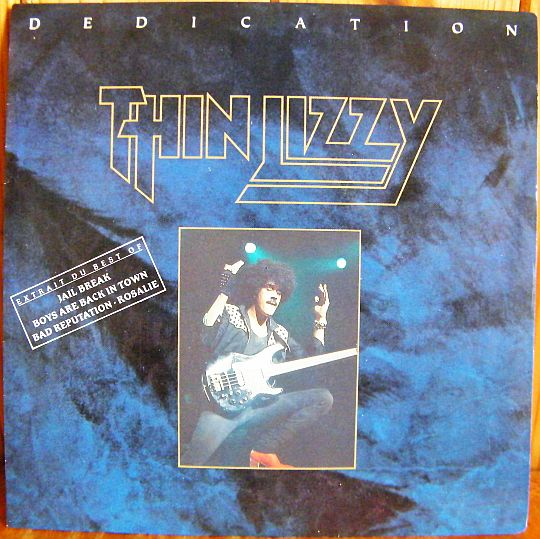 recto du 45 tours promo Collector de Thin Lizzy - Dedication