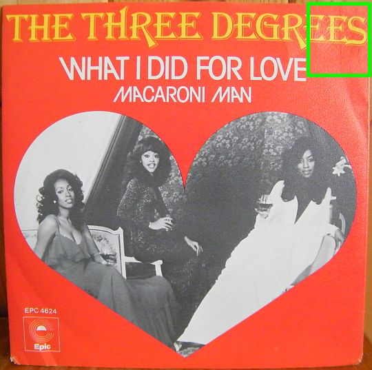 recto du 45 tours promo Collector des Three Degrees - What I did for love