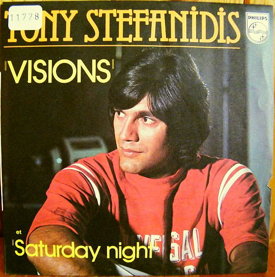 recto du 45 tours promo Collector de Tony STEFANIDIS - Visions