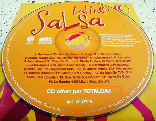 CD Collector Latino Salsa Totalgaz