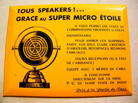 plaque promotionnelle Super Micro Etoile - Tous speakers