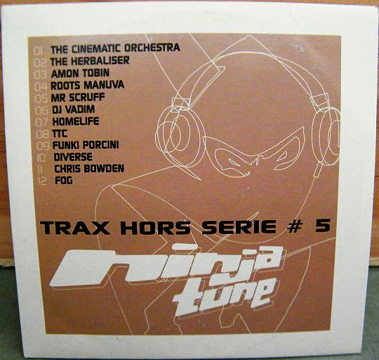 recto du CD sampler Collector Trax hors série # 5 NINJA TUNE