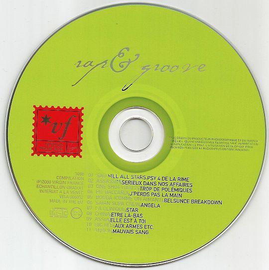 CD sampler collector VIRGIN vert - VF rap and groove dans POESIE-SONORE.COM