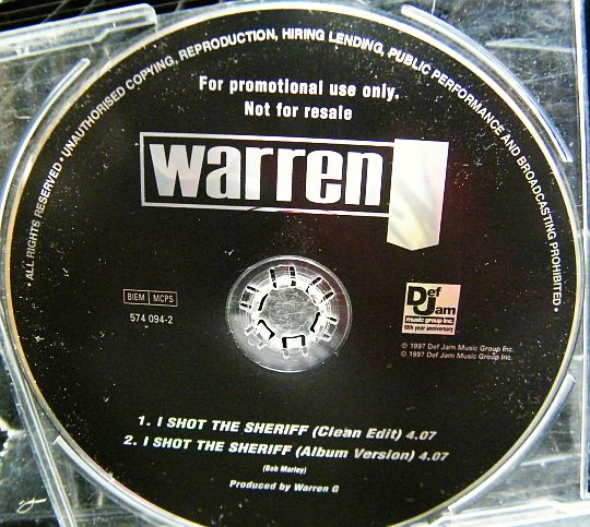 Warren G - I shot the sheriff, CD single promo Collector nu