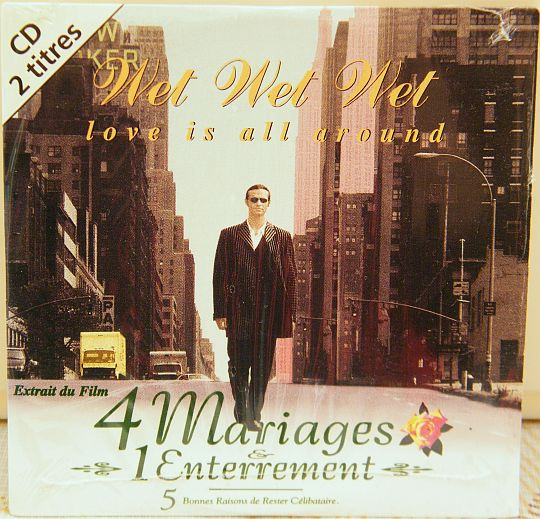 recto du CD promo de Wet Wet Wet - Love is all around
