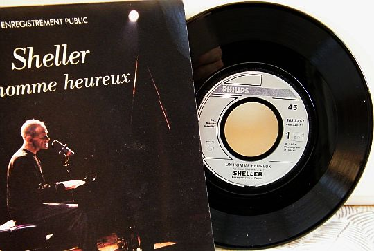 45 tours promo de William Sheller - Un homme heureux
