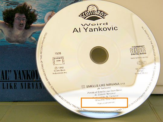 cd monotitre collector de Yankovic - Nirvana