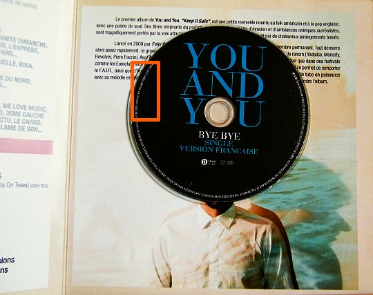 CD promotionnel sampler monotitre Collector de You and You